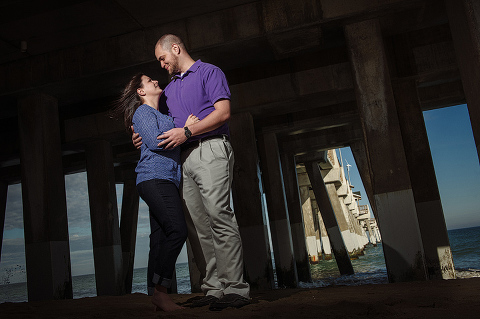 Erica and Mike's Engagement Pictures in The Outer Banks of NC (OBX)