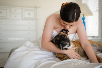 Bride with her best dog, Best dog weddings, Jayson and Rachael Photography