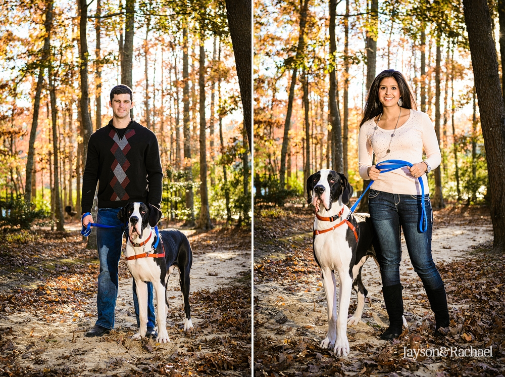 Family portraits with big dogs at waller mill park in Williamsburg