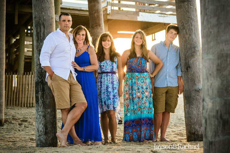 Family portraits in Rodanthe NC at the Rodanthe Fishing Pier