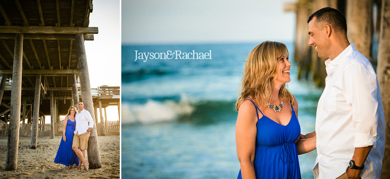 Couples portraits on the beach in Rodanthe NC
