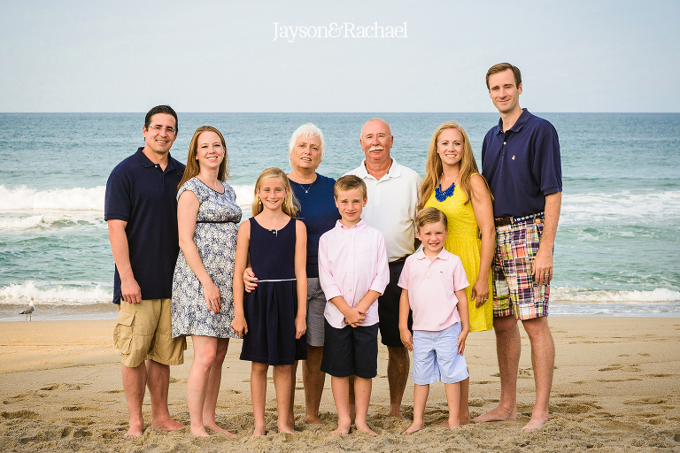 Mirlo Beach Family Portraits at The August Lauren in Rodanthe NC