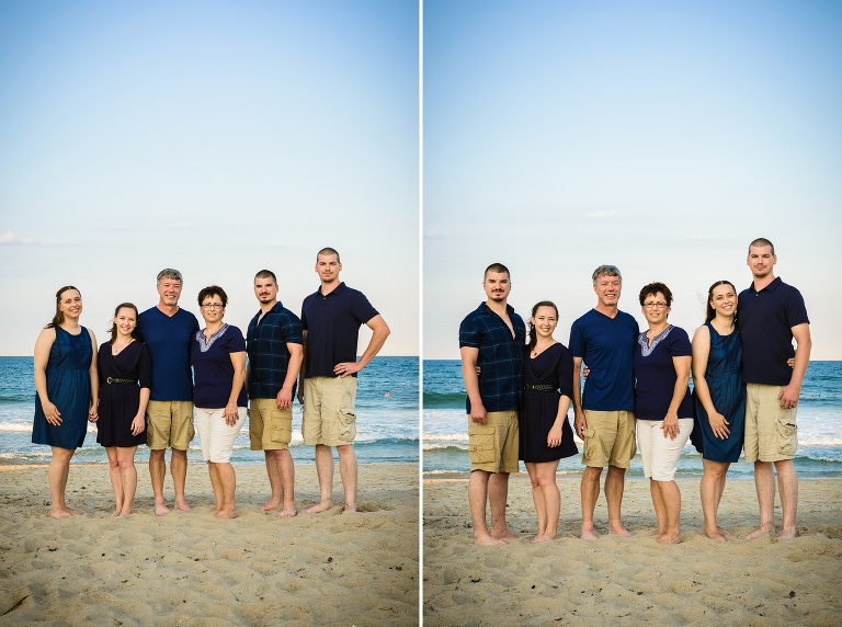 Family beach portraits in the Outer Banks of North Carolina