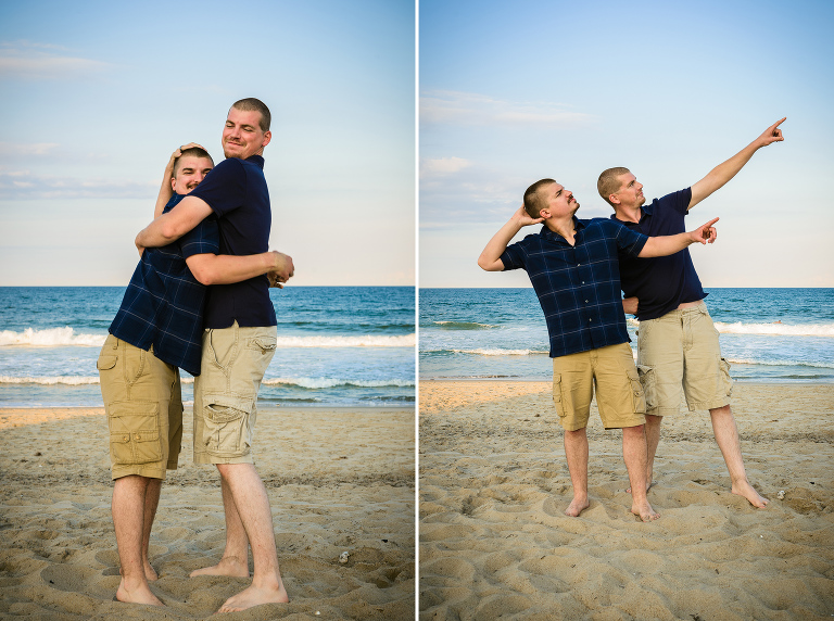 Fun family portraits in the OBX