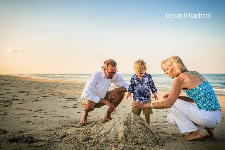 OBX family friendly beach photos